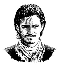Will Turner, Pirates of the Caribbean portrait by Daniel Reeve
