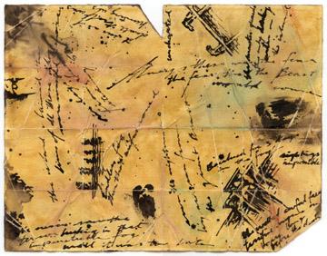 Hand-drawn Skull Island map, reverse side, by Daniel Reeve