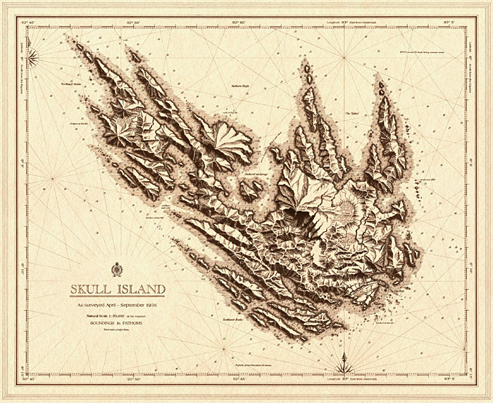 King Kong Skull Island map by Daniel Reeve