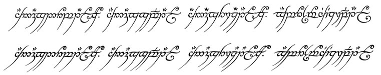 Lord Of The Rings Inscription Font