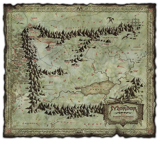 Colorado Lord Of The Rings Map