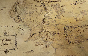 lord of the rings map prologue by daniel reeve