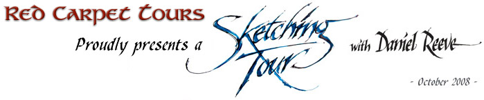 Red Carpet Sketching Tour with Daniel Reeve
